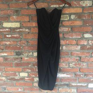 ASOS Black Strapless Dress